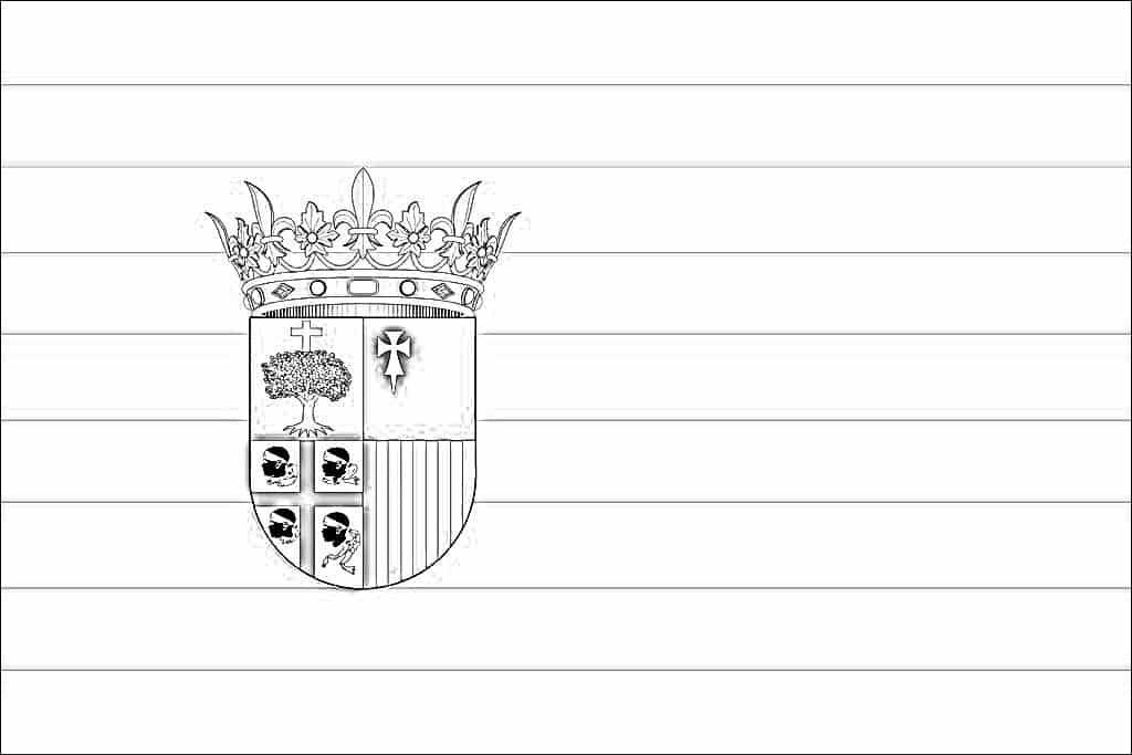 bandera aragon colorear