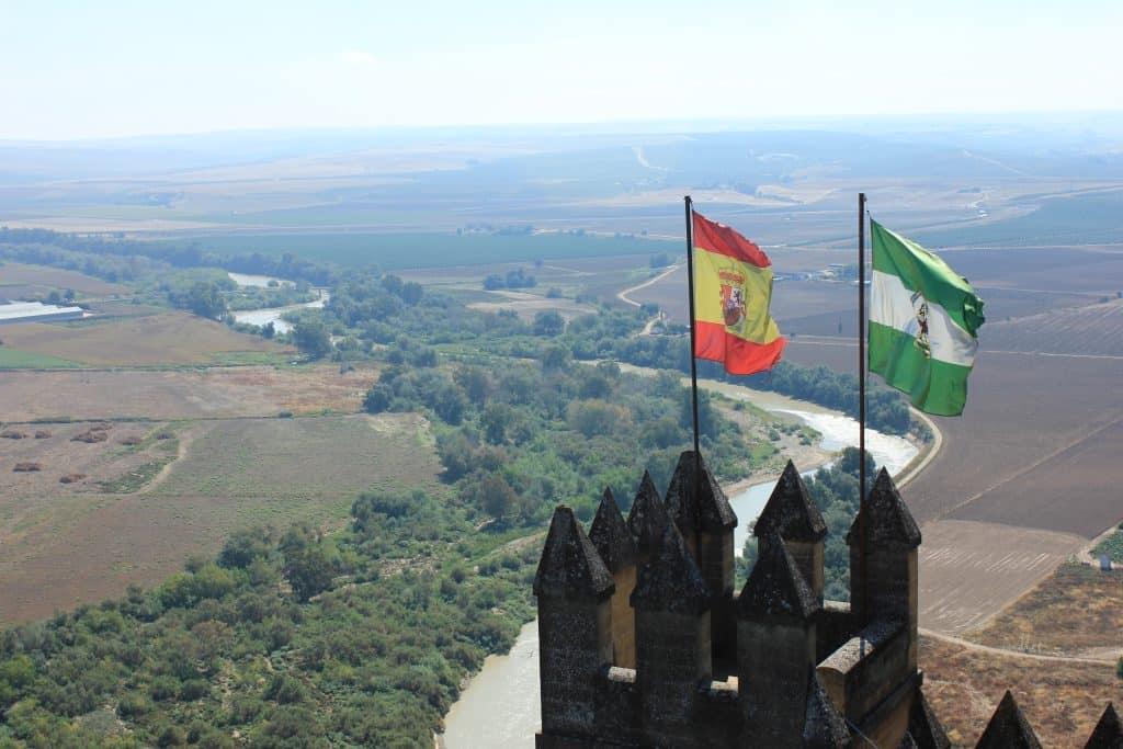 bandera de españa y andalucia