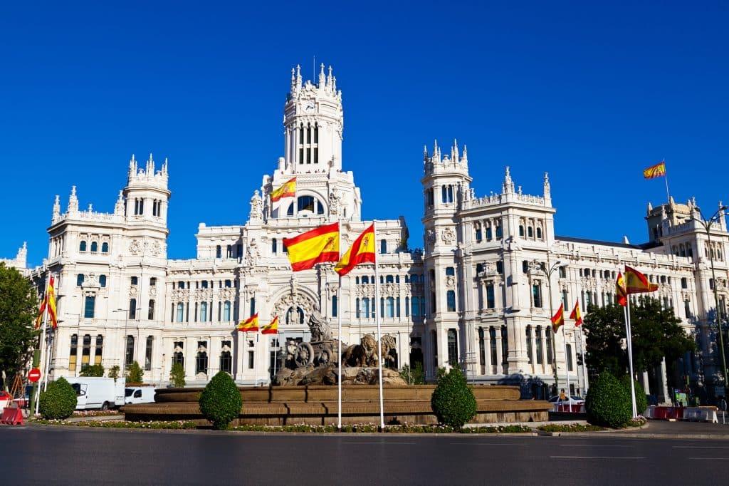 bandera españa ayuntamiento madrid