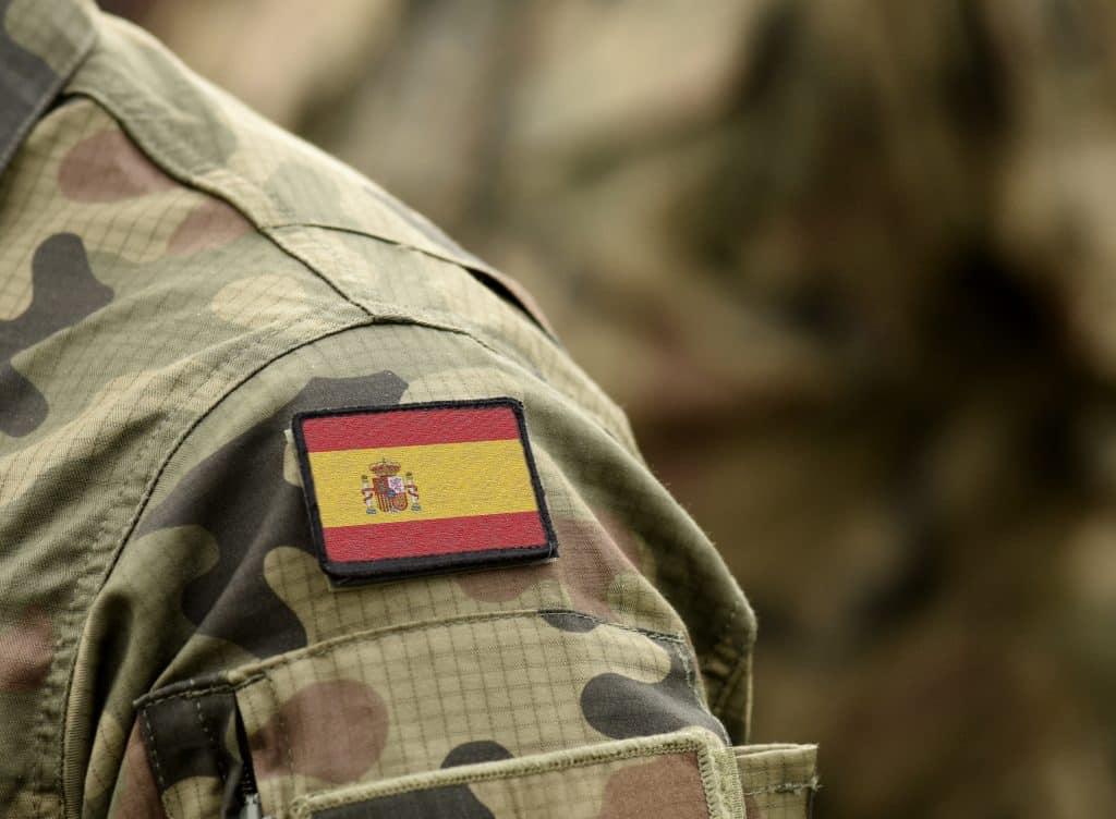 bandera españa militar