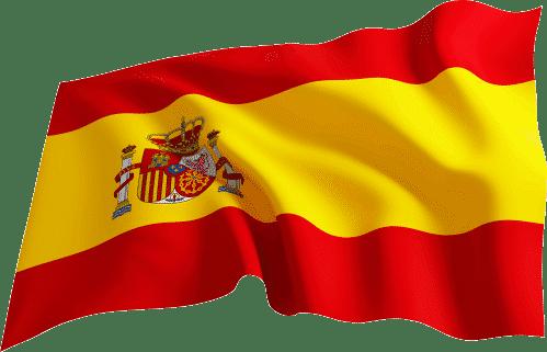 bandera españa ondeando en png