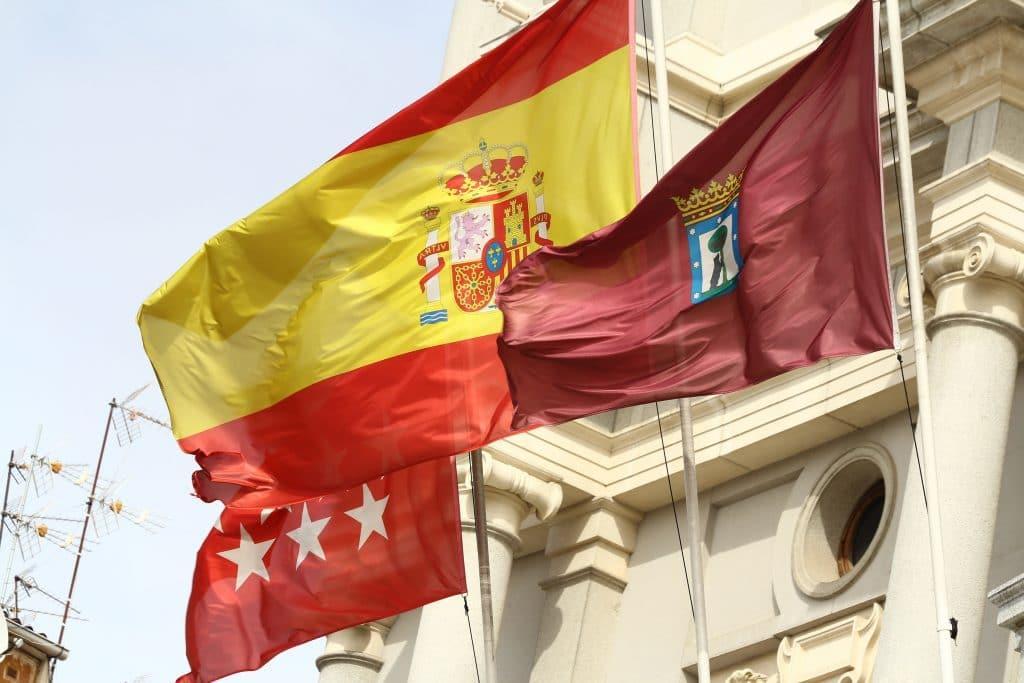 bandera españa teatro real