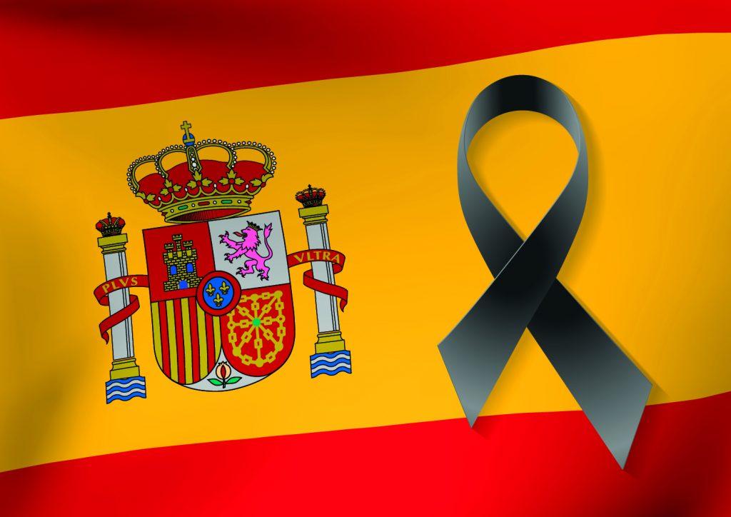 bandera española luto
