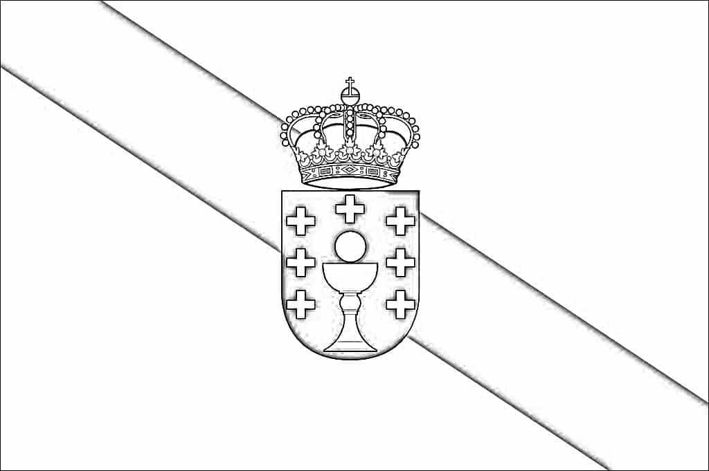 bandera galicia colorear
