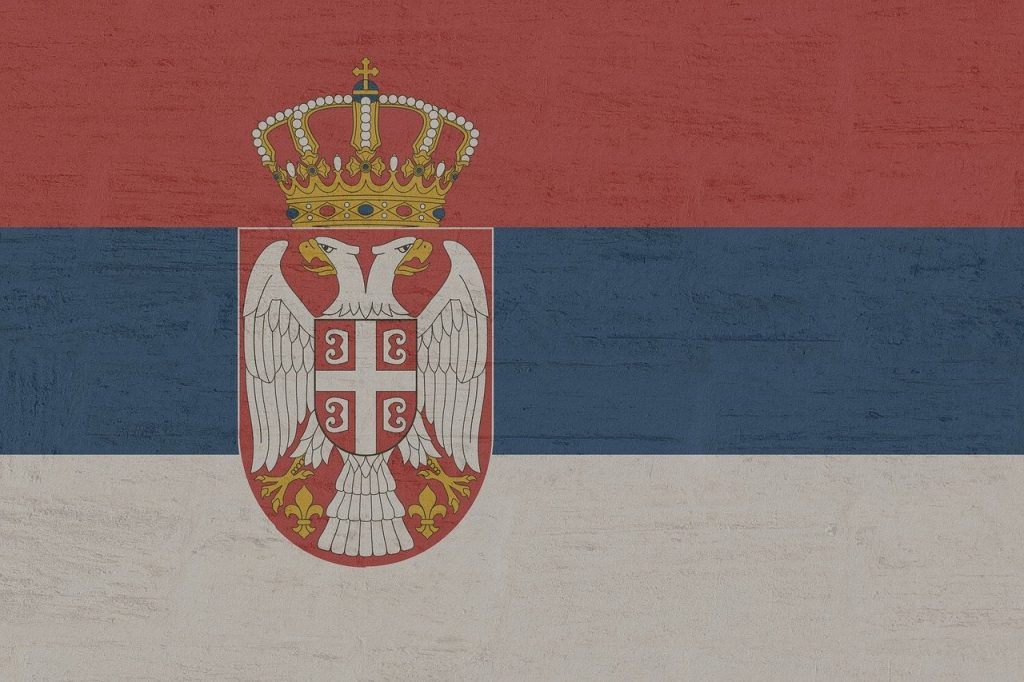 bandera serbia