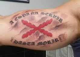 cruz de borgoña tatuaje
