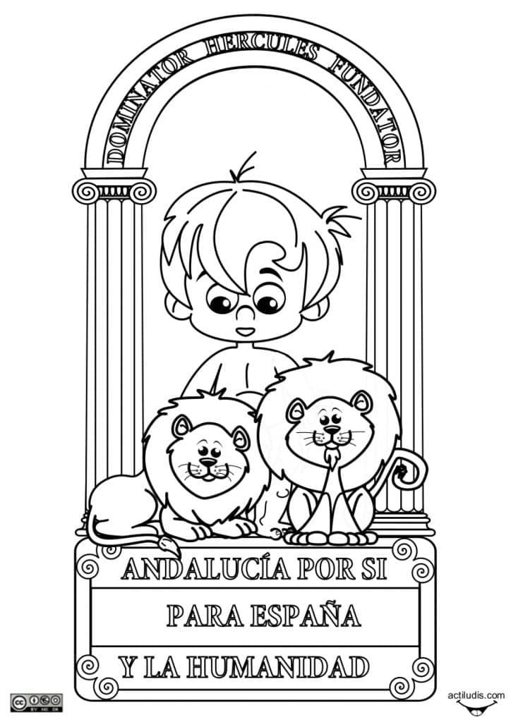 escudo andalucia para niños
