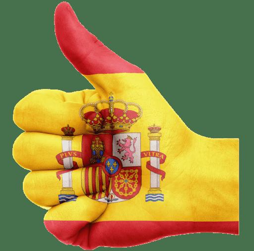 mano pulgar bandera españa