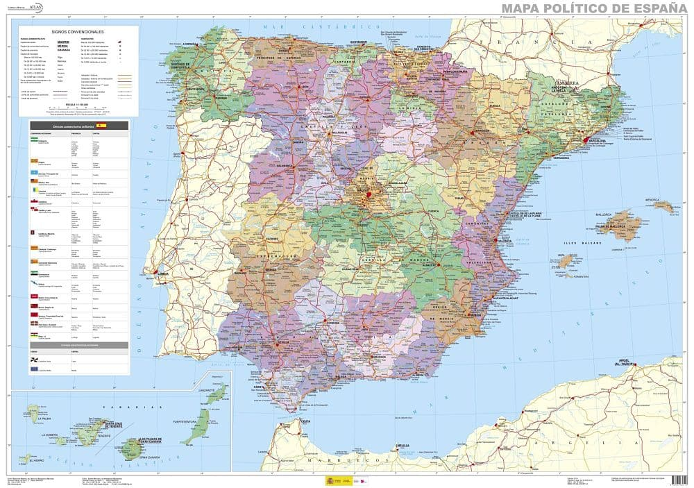 mapa españa carreteras
