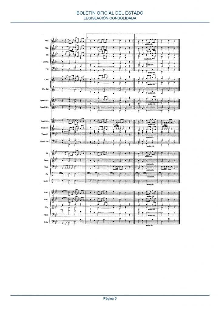 partitura himno españa orquesta