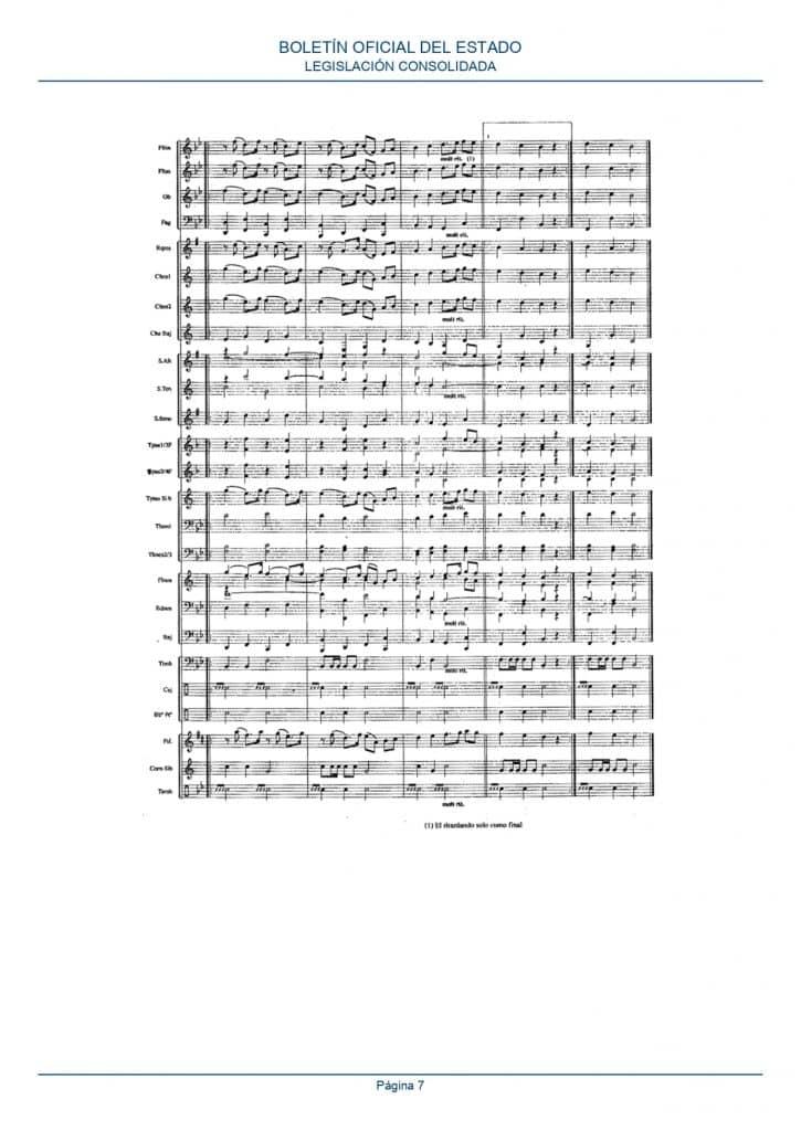 partitura himno españa banda musica