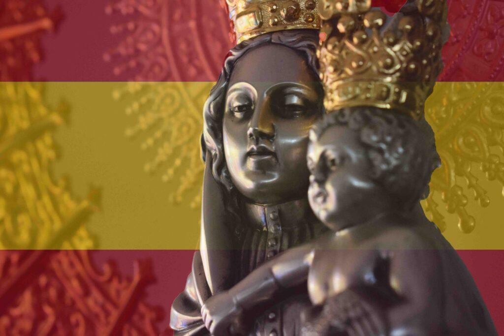 Virgen del Pilar bandera españa